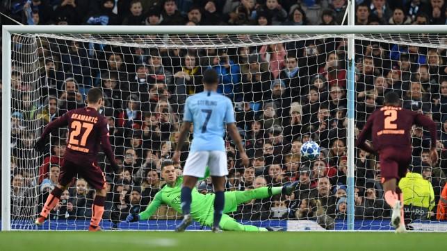 THE OPENER: Andrej Kramaric breaks the deadlock from the spot