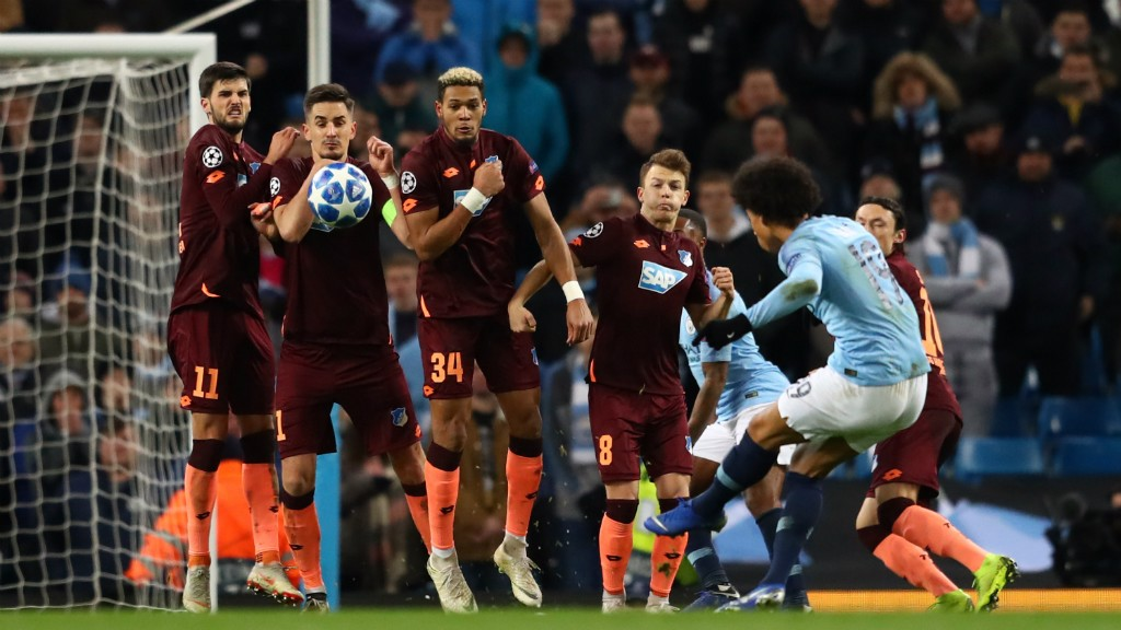 d4ca1c08994 PERFECTION  Leroy Sane curls in a wonderful free-kick to level on the brink