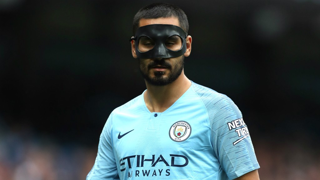 FACE UP: Ilkay Gundogan surveys the scene