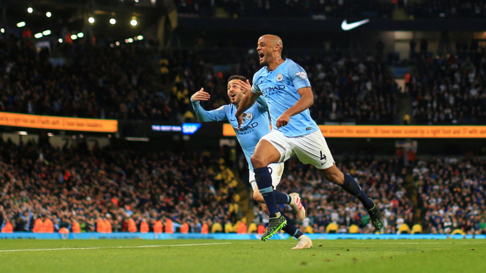 EMOTION: A delighted Vincent Kompany.