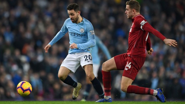 SOLID SILVA: Bernardo looks to get City motoring once more