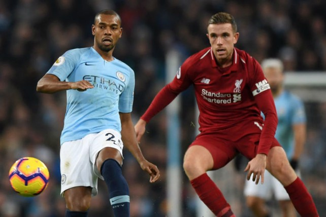 MIDDLE MARCH: Fernandinho produced another wonderful display