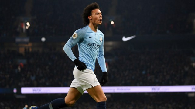 GOLDEN GLOW: Leroy Sane celebrates after his crucial goal