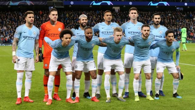 THE CHOSEN XI: City's starting line-up...