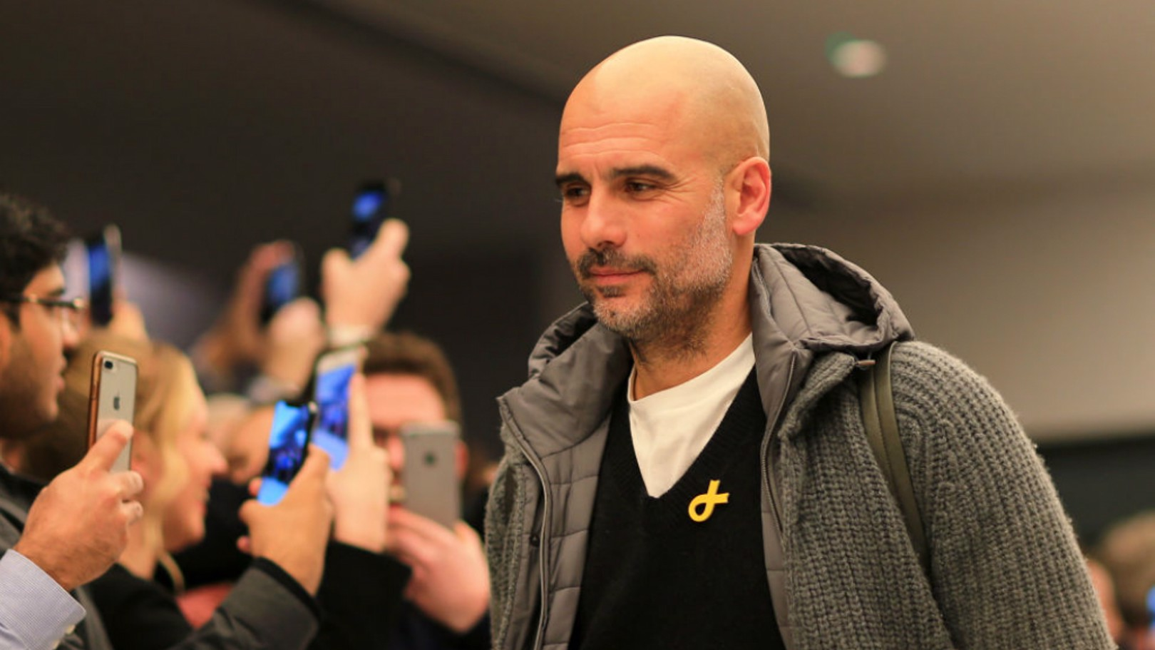 PEPPED: Pep Guardiola had never lost against Schalke, winning five and drawing two