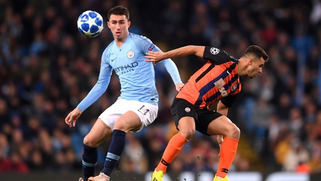 FOCUSED: Aymeric Laporte with the situation under control