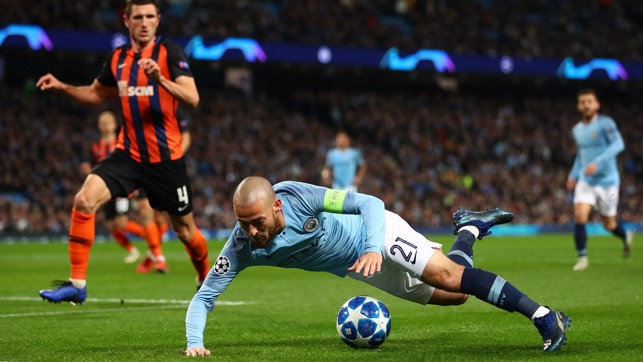 STONEWALL: David Silva wins City's second spot-kick of the night