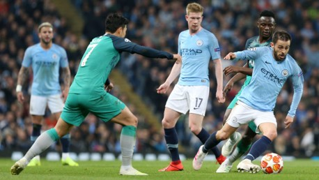 FORWARD MARCH: Bernardo Silva leads the City hunt for more goals