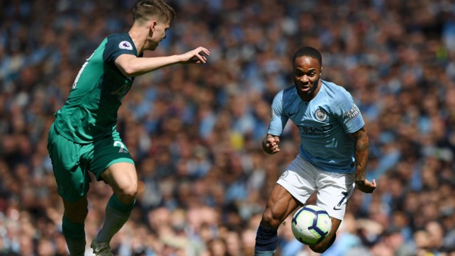 RAZZLE DAZZLE: Raheem Sterling launches another City attack