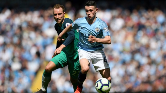 Centre Of Attention Phil Foden On The Attack Against Tottenham