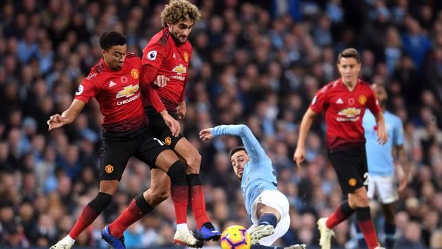 SLIDE RULE: Bernardo puts a block on Maraoune FellainI