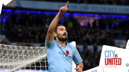 END GAME: Ilkay Gundogan celebrates his decisive third goal for City