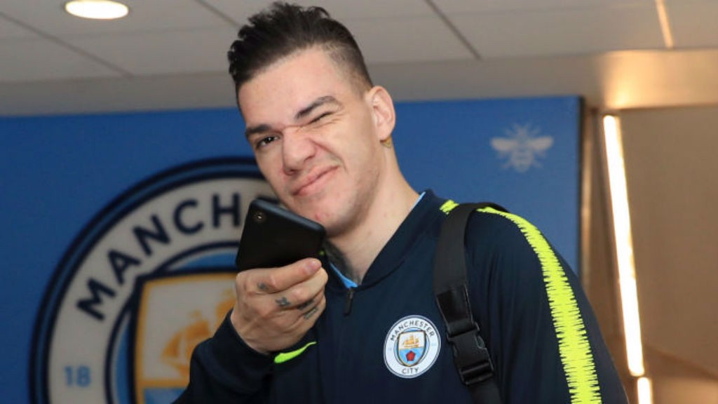 EYE EYE: Ederson arrives ready for duty