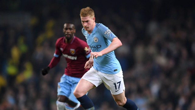 Kevin De Bruyne v West Ham United