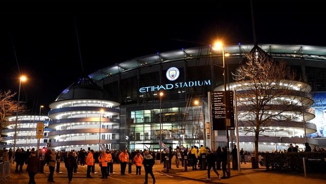 SCENE-SETTER:  The Etihad Stadium pre-match