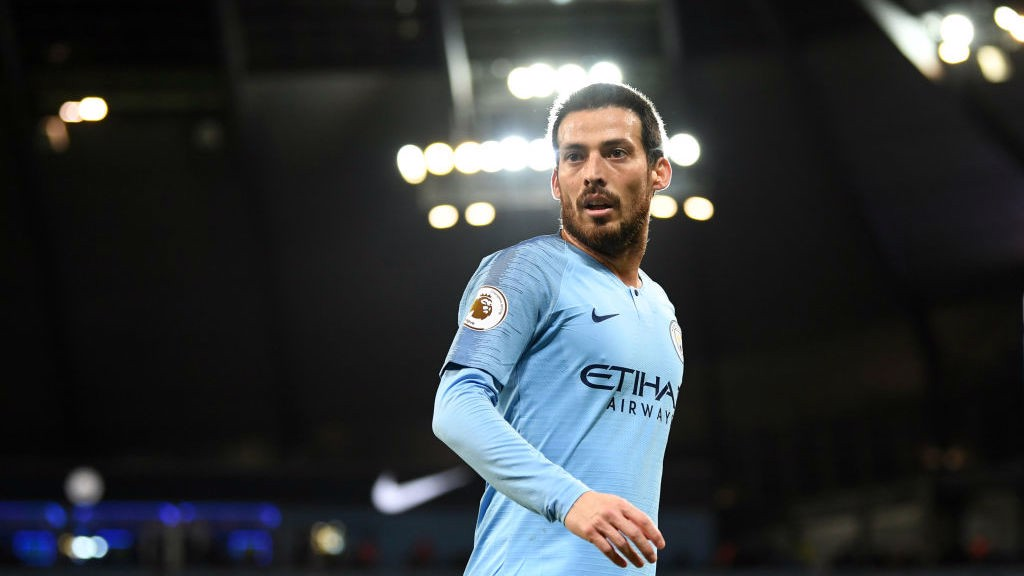 UNDER THE LIGHTS: A dominant David Silva controlling the midfield