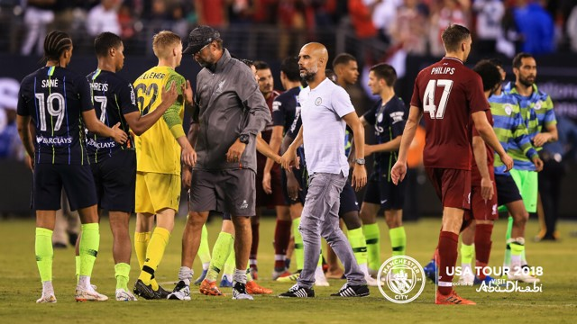 Pep Guardiola said he could not be more proud of his young City side's International Champions Cup display against Liverpool.