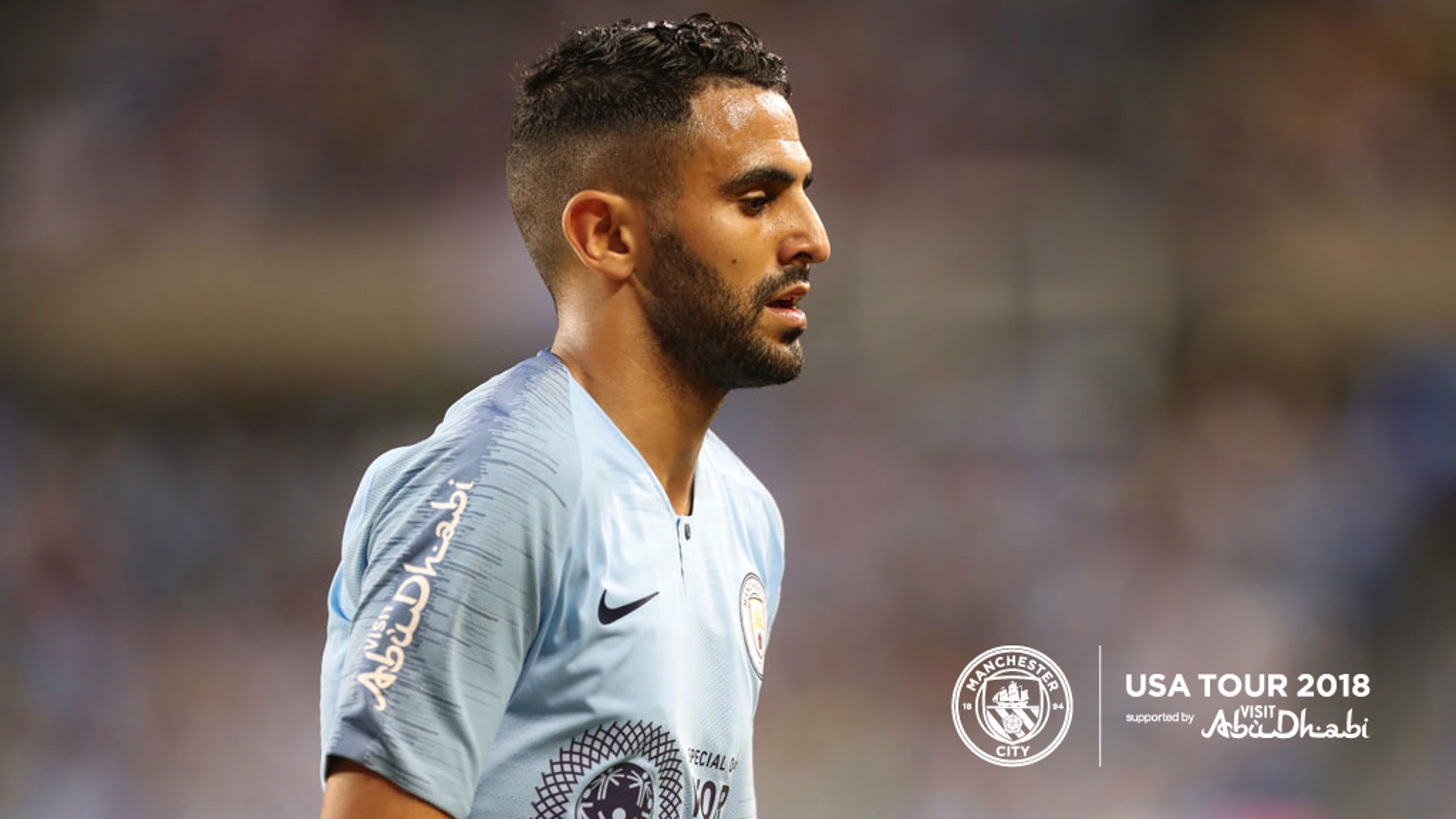 NEW BLUE: Riyad Mahrez went close to opening his City account on his debut..
