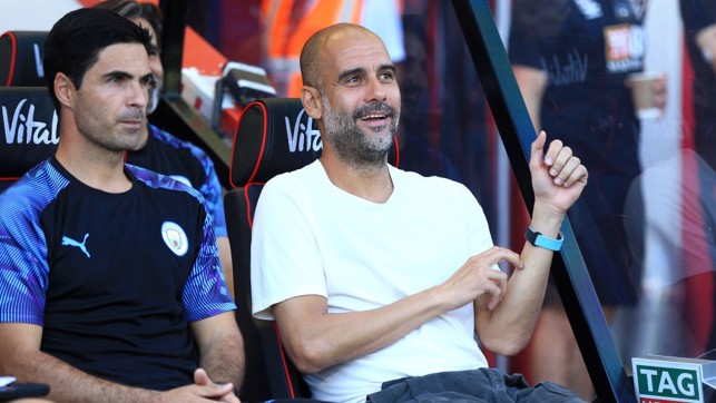 A WELCOME OPPONENT: Pep has now won all seven times that he's faced Bournemouth, making them his joint-favourite English opponent.