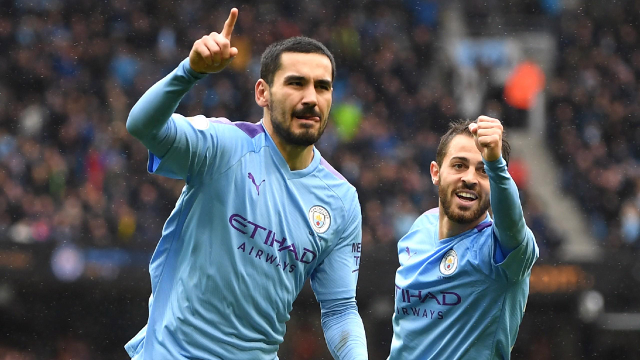 'Gundo Goal': Gundogan rayakan golnya ke gawang Villa
