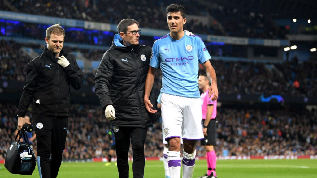 SETBACK: Rodri had to come off injured in the first half