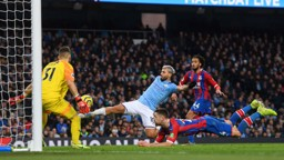 LEVELLER: Aguero nets his 250th City goal to make it 1-1.