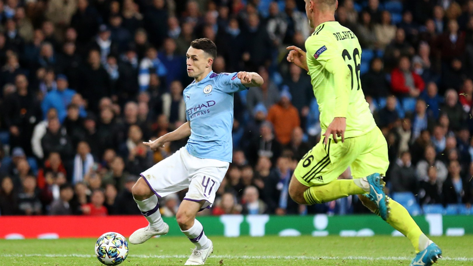 PERFECT ENDING: Substitute Phil Foden sealed City's victory just before the final whistle