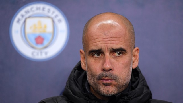 MANAGER'S NOTES: Pep Guardiola watches on