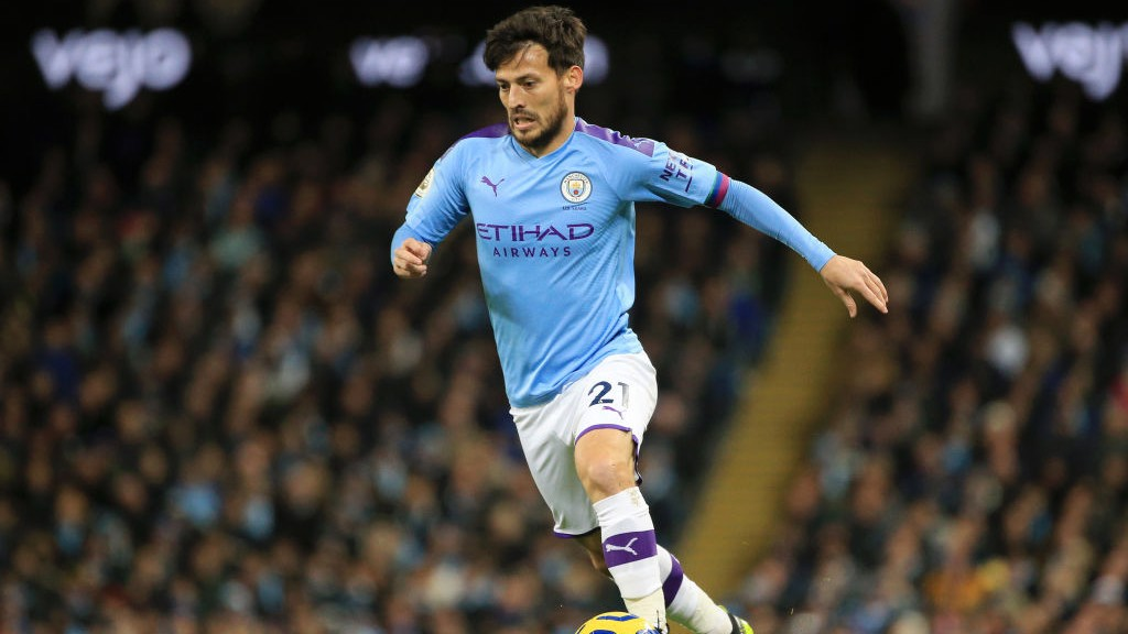 MERLIN: David Silva takes the game to United.