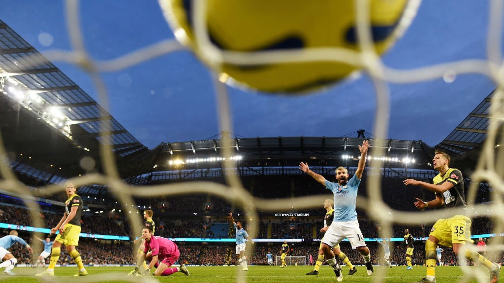 13 AND COUNTING: Kun on the mark yet again versus Saints