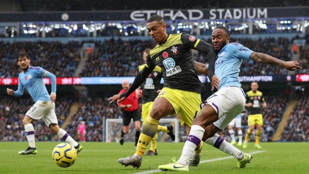 A marcação dura do Southampton impedia o City de jogar