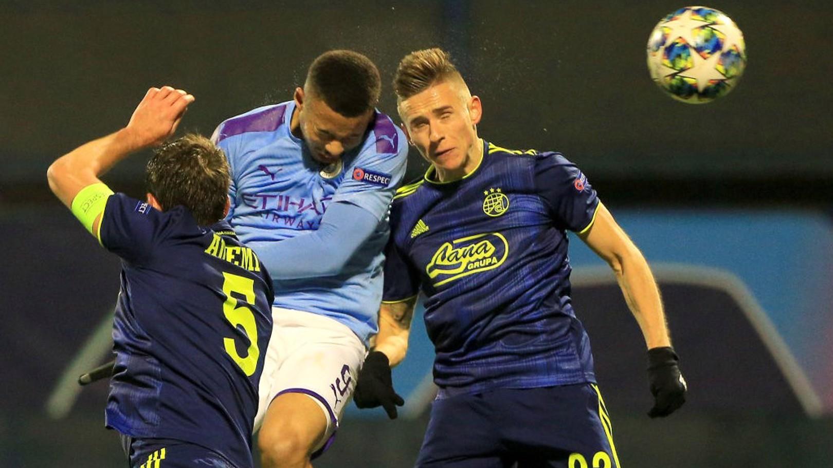 디나모 자그레브와의 경기에서 맨체스터 시티에 동점골을 만들어 줬던 가브리엘 제주스