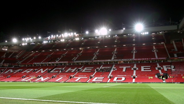 OLD TRAFFORD: You can't beat a Manchester derby under the lights...