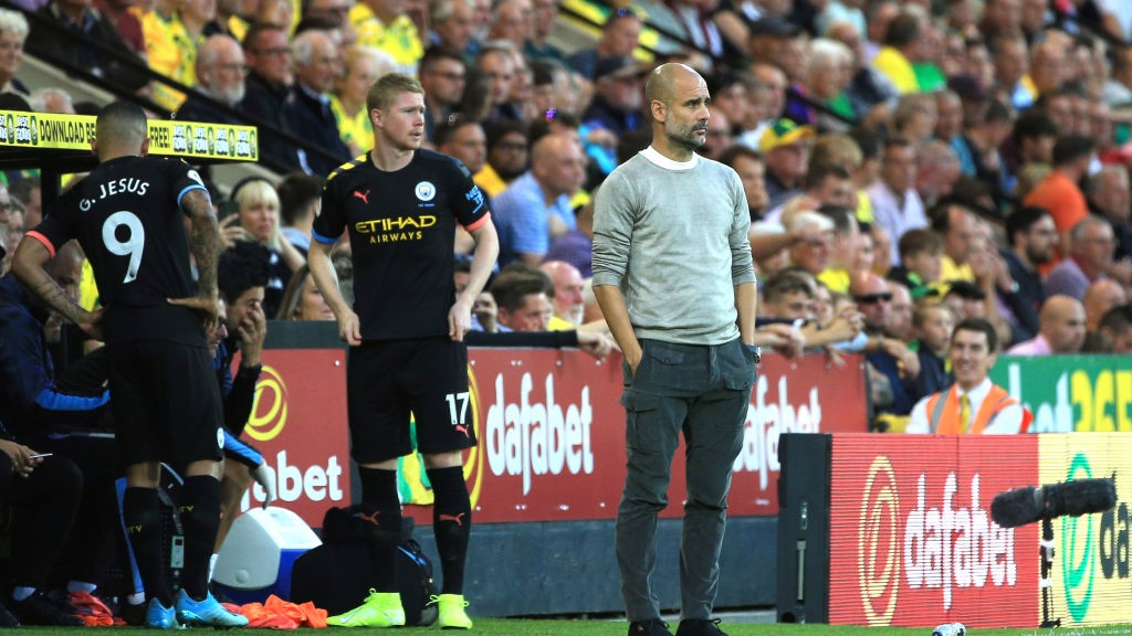 DOUBLE SUB: Pep Guardiola rolls the dice by bringing on De Bruyne and Jesus