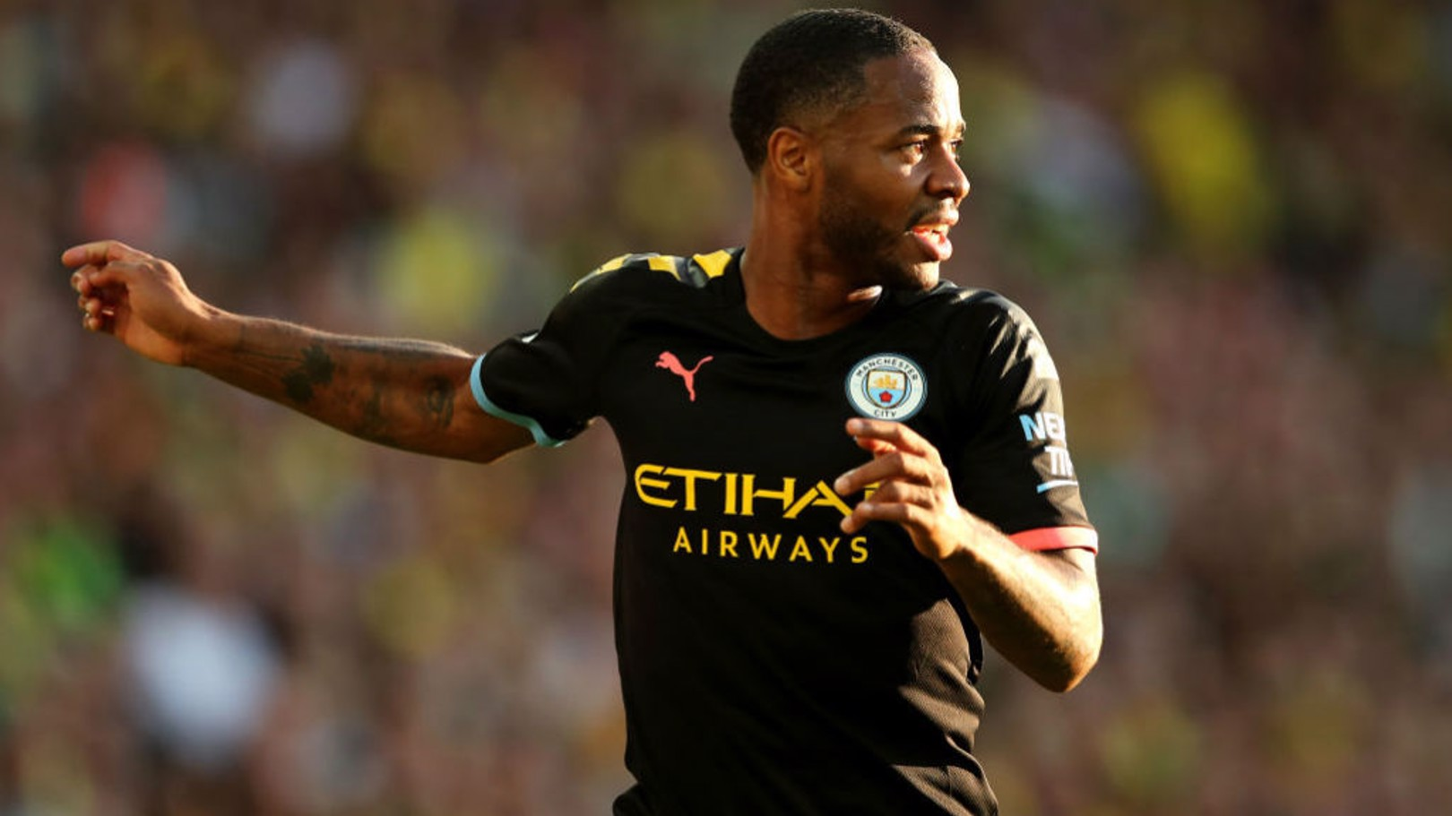 FIGHT TIL THE END: Sterling was trying to force City back into the game.