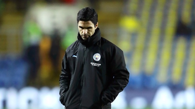 DEEP IN THOUGHT: Mikel Arteta