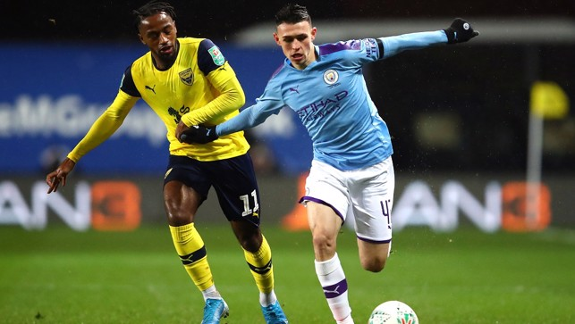 IN PHIL FLOW: Another energetic display from young Foden