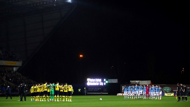 ONE MINUTE SILENCE: For ex-Oxford boss Jim Smith who sadly passed away recently