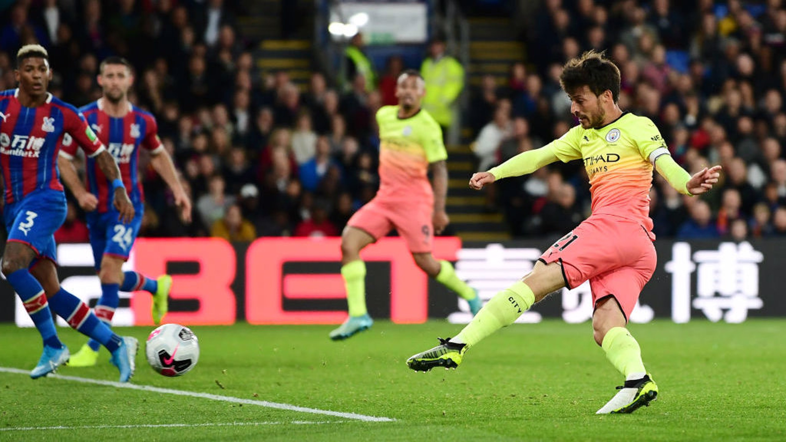 MAKE THAT TWO: El Mago volleys in expertly to double our lead seconds after Jesus' opener.