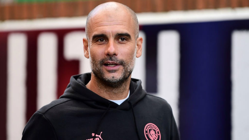PEP TALK: The boss reacts to the win over Palace