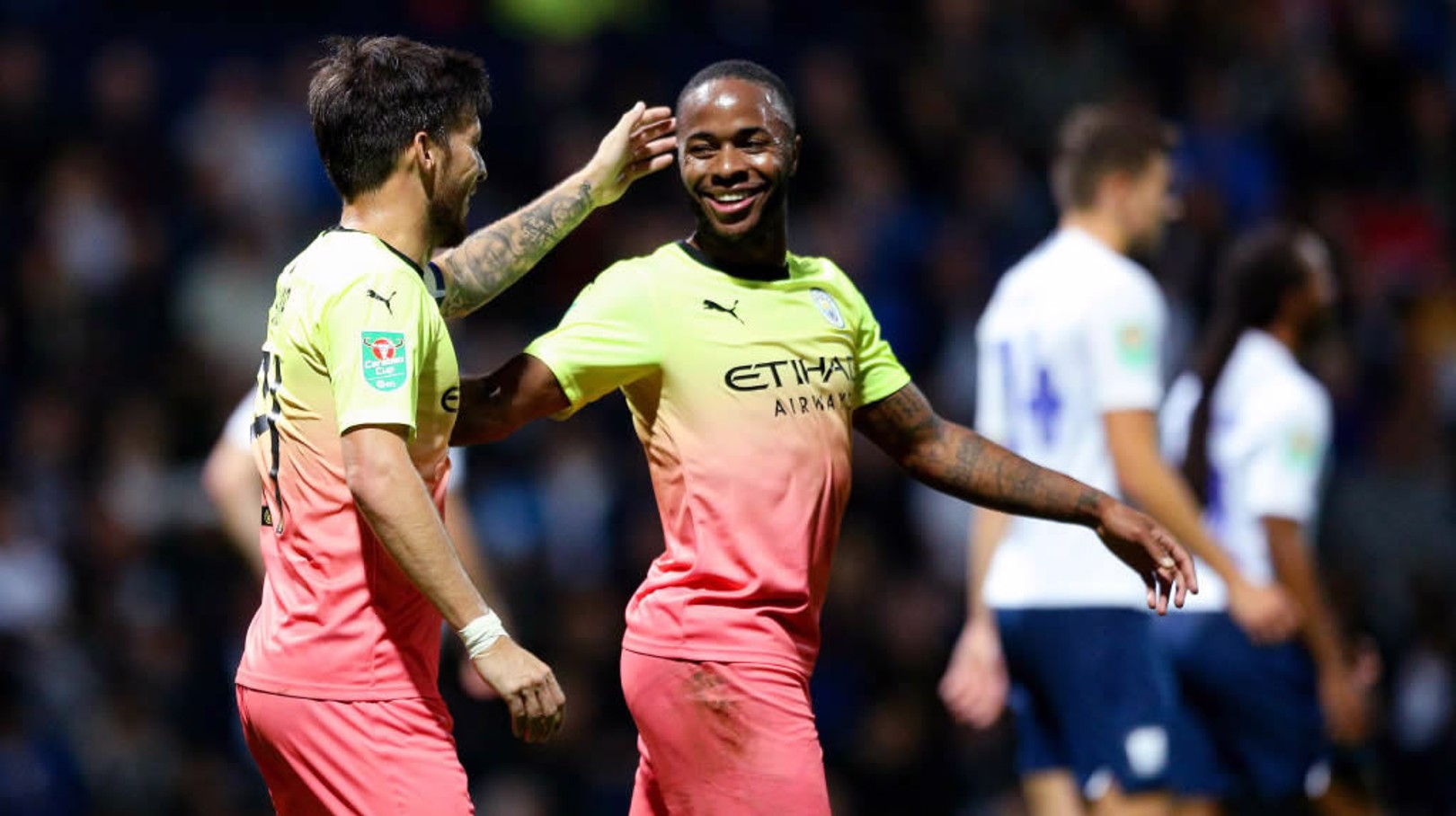 THIRD GOAL: Silva and Sterling