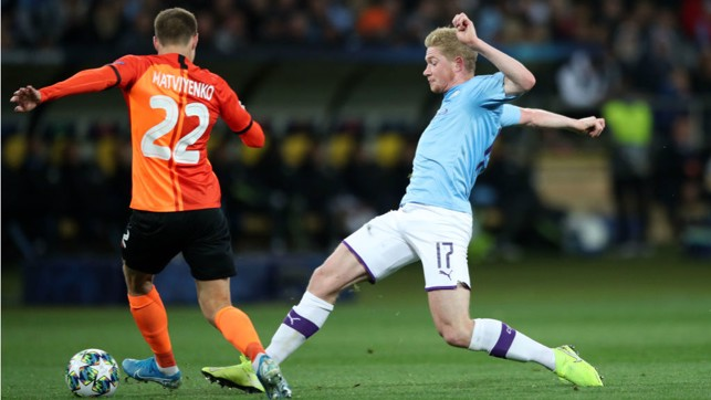 SPECIAL K: Kevin De Bruyne keeps the pressure up on Shakhtar