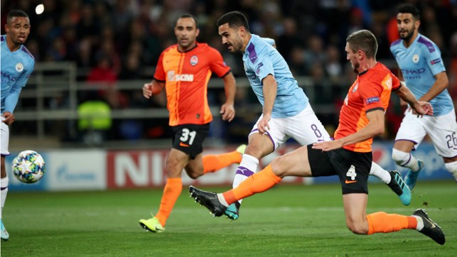 DOUBLE DELIGHT: Ilkay Gundogan strikes for City's second goal