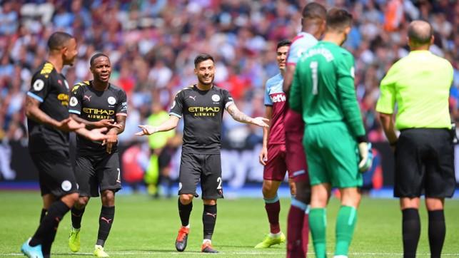 DISBELIEF: VAR denies City a third goal.