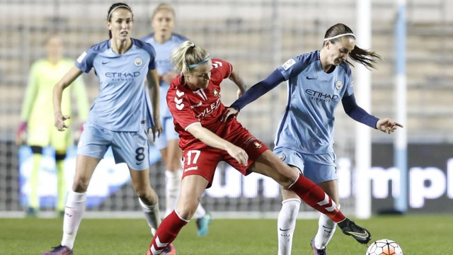 BATTLE: Kosovare Asllani retains possession