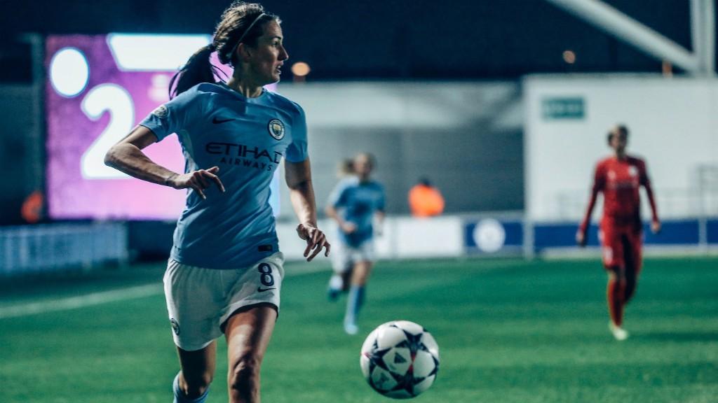 PROUD: Jill Scott spoke of her pride, following City's professional 2-0 Champions League win over Linkoping