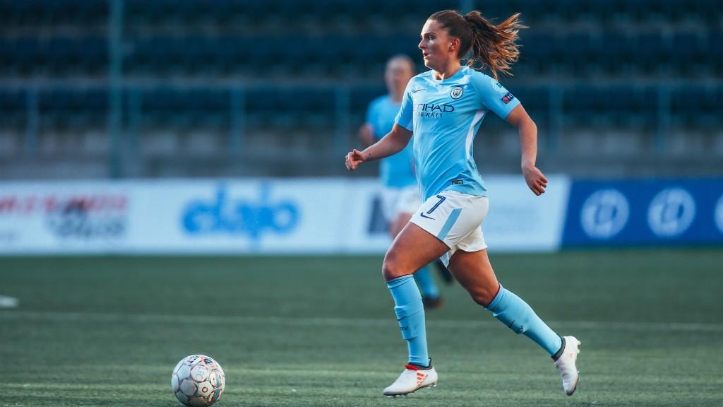 Mel Lawley dio tres asistencias ante el Linköping.