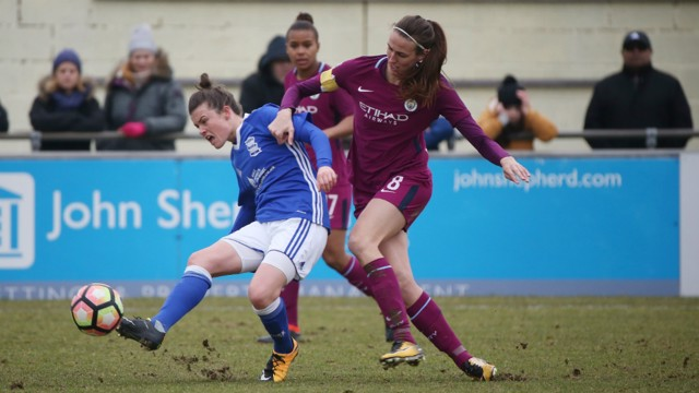 CUP CLASH: Jill Scott captained City to the quarter final.