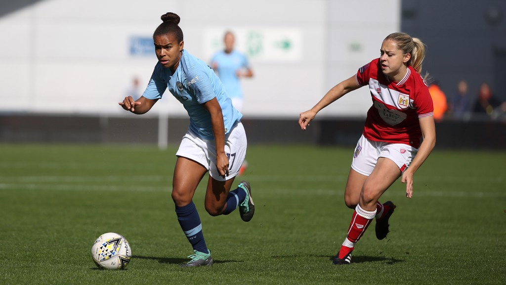 RACE: Nikita Parris sprints clear