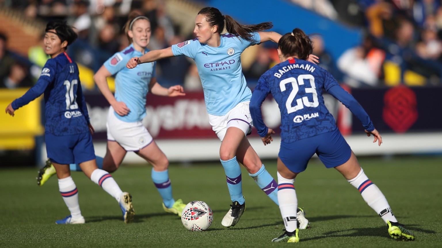 Caroline Weir marcó su 15º gol con el Manchester City.